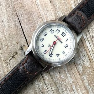 Timex Expedition Women's Date Watch Brown Leather